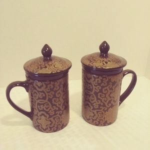 Pottery Barn Coffee/Tea Infuser Mugs -Set of 2